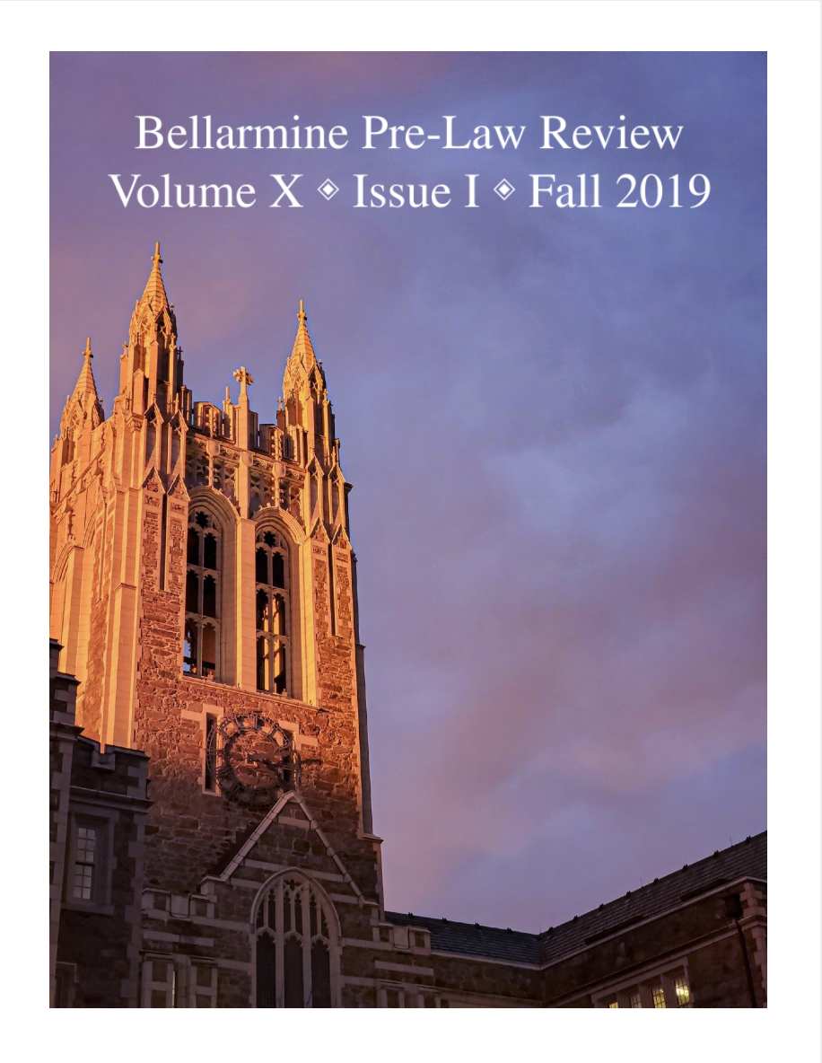 Journal cover image with BC belltower and title