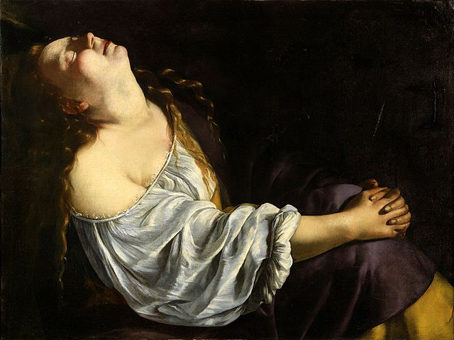 Mary Magdalene in Ecstasy (c. 1611, 1613-1620), by Artemisia Gentileschi